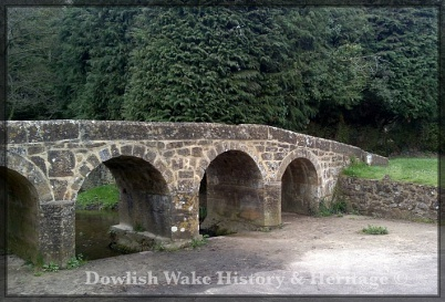 Packhorse Bridge over Dowlish Brook