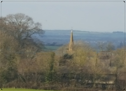 View of Church Steeple at Cricket Malherbie